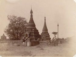 Modern pagodas at Pagan
